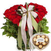 빨강장미하트바구니-1(초콜렛포함)